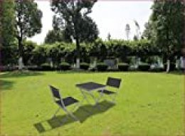 Chillvert KCH180 -  Conjunto Terraza Acero/Textilene Plegable Toscana