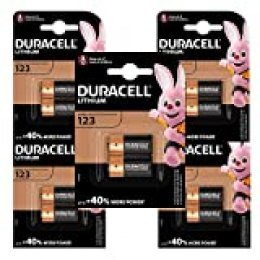 Duracell Pilas especiales de litio 123 High Power de 6 V, paquete de 10 unidades, CR123 / CR123A / CR17345, diseñadas para su uso en sensores, cerraduras sin llave, flash de cámara y linternas
