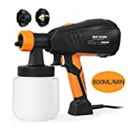 Pistola de Pintura, Meterk 400w Pistola de Pulverización Pintura Eléctrica,800ml/Min con 3 Boquillas 3 Patrones de Pulverización