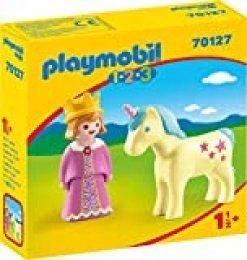 PLAYMOBIL PLAYMOBIL-70127 1.2.3 Princesa Unicornio, Multicolor, Talla única (70127)