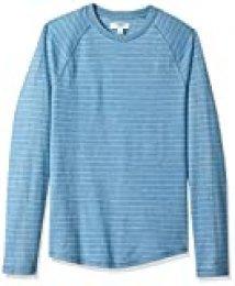 Marca Amazon - Goodthreads - Camiseta de manga larga de color añil con mangas raglán para hombre