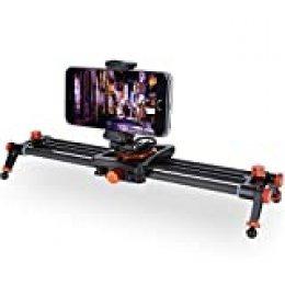 Rollei 34cm Carbon Smartphone Slider I Camera Dolly con capacidad de carga de 1.5kg I Impresionantes movimientos de cámara y grabaciones de vídeo con deslizador de cámara compacto