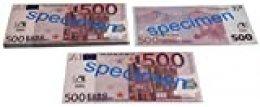 WISSNER® aktiv lernen - 500 billetes de EURO (100 piezas)