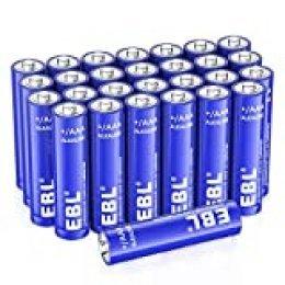 EBL Pilas AAA Alcalinas 10 Años Seguridad Durabilidad Excelente Rendimiento Pilas para Juguetes Báscula Reloj (28 Unidades de 1,5 V)