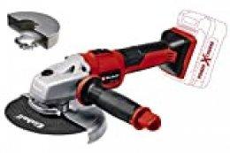 Einhell 4431144 Amoladora angular con batería, Rojo, Negro