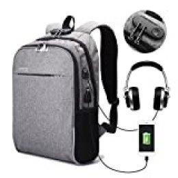 CAMTOA Zaino Porta Computer da 15.6 inch Laptop Backpack con Serratura,Port di Ricarica USB,Cuffie Jack,Zaino da Lavoro,Protezione Multifunzione per Business Affari/Casual/Viaggio/Outdoor
