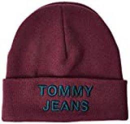 Tommy Hilfiger Tjm Logo Beanie Gorro de punto , Verde (Green 0ia) , Talla única (Talla del fabricante: OS) para Hombre