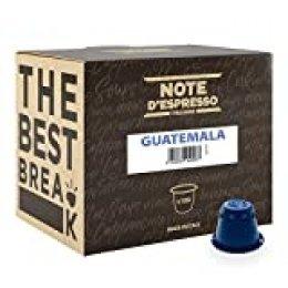Note D'Espresso Cápsulas de café de Guatemala exclusivamente compatibles con cafeteras Nespresso*  - 100 Unidades de 5.6g, Total - 560 g