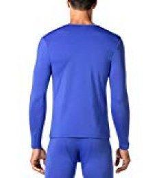 LAPASA Camiseta Térmica, Pack de 2 Manga Larga para Hombre. -Brushed Back Fabric Technique- M09 (XL (Largo 75, Manga 62, Pecho 112-117 cm), Classic Blue (Azul))