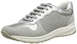 Geox D Airell A, Zapatillas para Mujer, Gris (Lt Grey C1010), 36 EU