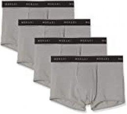 Marca Amazon - MERAKI Calzoncillo Bajo de Algodón Hombre, Pack de 4, Gris (gris medio)., M, Label: M
