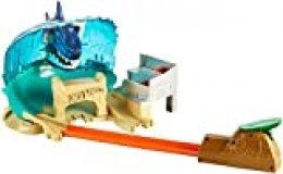 Hot Wheels Tiburón Megadestrucción, pista de coches de juguete (Mattel FNB21)