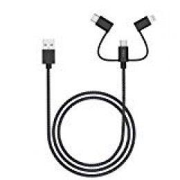 Cable Lightning 3 en 1, iHaper Cable de Carga USB Cable de sincronización de Datos de 1 m para iPhone 11 Pro MAX/X/XR/XS Max/8/7 Plus/6/6S Plus, iPad, y Dispositivos Micro Android, Samsung y Huawei