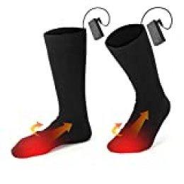 Calcetines térmicos eléctricos hombres y mujeres. Calcetines térmicos térmicos a batería para el invierno