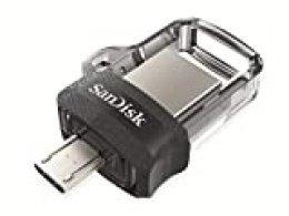 SanDisk Ultra Dual m3.0 - Unidad Dual con conector micro-USB en un extremo y un conector USB 3.0, 64 GB