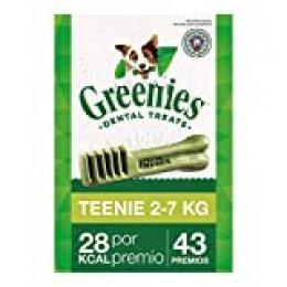 Snack dental Greenies Teenie para perros toy, bolsa de 340g (Pack de 6)