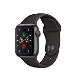 Apple Watch Series 5 (GPS+Cellular, 40 mm) Aluminio en Gris Espacial - Correa Deportiva Negro