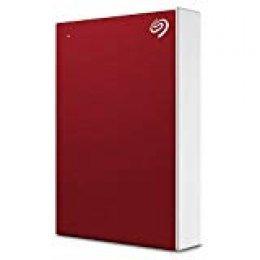 Seagate STHP5000403 Backup Plus Portable, 5TB, Unidad de Disco Duro Externa HDD, Rojo, USB 3.0 para PC, Ordenador portátil y Mac, 2 Meses de suscripción a Adobe CC Photography