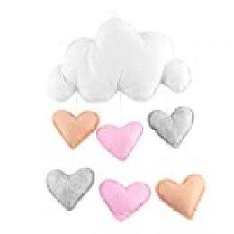 LUOEM habitación de los Niños Decoración Nubes Gotas de Lluvia Distressed Deko Baby Party
