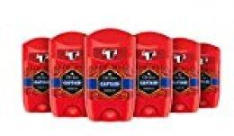 Old Spice Captain - Desodorante Stick, pack de 6 x 50 ml, total de 300 ml
