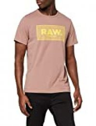 G-STAR RAW Boxed Straight Fit Camiseta, Braun (Chocolate Berry 336-b113), M para Hombre