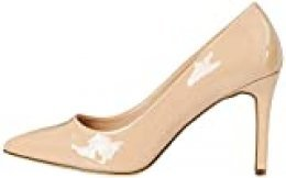 Marca Amazon - find. High Heel Point Court Zapatos de tacón con Punta Cerrada, Beige (Blush (Nude), 37 EU