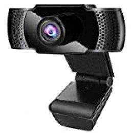 Anykuu Webcam 1080p Full HD con Micrófono Webcam USB Compatible con Windows para PC Portátil Desktop USB 2.0 Soporta Varias Herramientas de Chat y Software de Videoconferencia