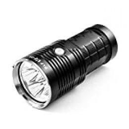 Linterna LED, Thorfire Q8 Linterna Súper Brillante, BLF 5000 Lumen UI Configurable, 4 LED Linterna Táctica Profesional IPX8 Ultra Brillante y Compacta, Batería de 4 Botones 18650 (No Incluida)