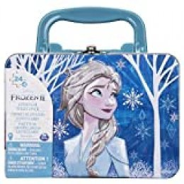 Spin Master Games 2-2 im Tragekoffer Tin with Handle Frozen maletín de Transporte (2 Puzzles con Mango), Multicolor (6052989)