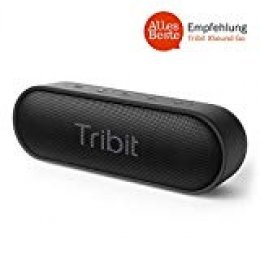 Tribit XSound Go IPX7 - Altavoz Bluetooth con Sonido, Impermeable, 24 Horas, 20M Bluetooth Distancia, Radio Portátil, USB, Negro