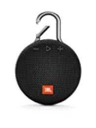 JBL Clip 3, Altavoz Inalámbrico Portátil con Bluetooth – Parlante Resistente al Agua (IPX7) – 10h de Música Continua, Inalámbrico y Alámbrico MicroUSB, Negro