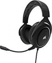 Corsair HS60 Surround 7.1 - Auriculares Gaming con micrófono Desmontable (para PC/PS4/Xbox/Switch/móvil), Blanco