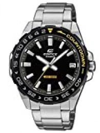 Casio Reloj Analógico para Hombre de Cuarzo con Correa en Acero Inoxidable EFV-120DB-1AVUEF