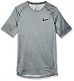 NIKE M NP Top SS Tight T-Shirt, Hombre, Smoke Grey/Lt Smoke Grey/Black, XL