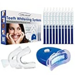 Teeth Whitening Kit,Tooth Whitening Gel,Teeth Whitening Gels Kit Set with Led Light Professional Home Teeth Bleaching Kit - Perfect Home Teeth Whitening System