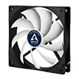 ARCTIC F12 PWM PST - Ventilador para caja de 120 mm, carcasa estándar, conexión PST (Tecnología intercambio PWM), velocidad regulada sincrónicamente