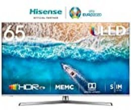 Hisense H65U7BE - Smart TV ULED 65' 4K Ultra HD con Alexa Integrada, Bluetooth, Dolby Vision HDR, HDR 10+, Audio Dolby Atmos, Ultra Dimming, Smart TV VIDAA U 3.0 IA,  mando con micrófono