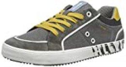 Geox J Alonisso Boy E, Zapatillas para Niños, Gris (Grey/Yellow C0030), 33 EU