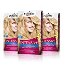Palette Intense Cream Coloration Intensive Coloración del Cabello, 10 Rubio Muy Claro - Pack de 3
