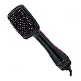 Revlon RVDR5212E Hot air brush Caliente Negro, Rosa 800W 2.5m Utensilio de peinado - Moldeador de pelo (Cepillo de aire caliente, Caliente, Negro, Rosa, 2,5 m, 800 W, 530 g)