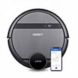 Ecovacs Deebot 901 - Robot Aspirador, mapeo inteligente láser, control con Alexa, App, Wifi, 3 modos de limpieza, 2 niveles succión,  negro