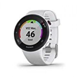 Garmin Forerunner 45S/P Reloj Multisport, Adulto, Unisex, Blanco, S