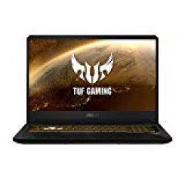 "ASUS TUF Gaming FX705GM-EV020 - Ordenador portátil 17.3"" FHD 144Hz (Intel Core i7-8750H, 16GB RAM, 1TB HDD + 256GB SSD, Nvidia GTX1060 6GB, sin sistema op.) Metal y Oro - Teclado QWERTY Español"