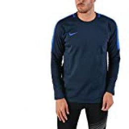 NIKE M NK Dry ACDMY Crew Top - Camiseta, Hombre, Multicolor(Obsidian/Hyper Royal/Hyper Royal)