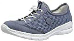 Rieker Frühjahr/Sommer N22M6, Mocasines para Mujer, Azul (Jeans/Bleu/Bleu-Silver/ 14 14), 36 EU
