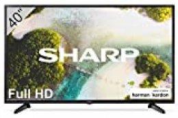 """Sharp 40CF3E - 2020 TV FHD de 40"""" - TV 40 Pulgadas - (resolución 1920 x 1080, 3X HDMI, 2X USB) Color Negro"""