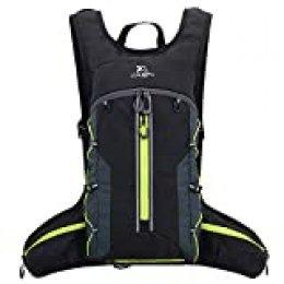 Fistcale - Mochila para correr de 8 L, plegable, regalo funcional para hombres y mujeres para viajes diarios, ciclismo, correr, senderismo (Black-G)