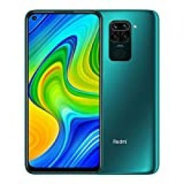 "Xiaomi Redmi Note 9 - Smartphone de 6.53"" FHD (DotDisplay, 4 GB RAM, 128 GB ROM, cámara Quad de 48 MP, Hotshot 3.5 mm, Headphone Jack, batería de 5020 mAh) Forest Green [International Version]"
