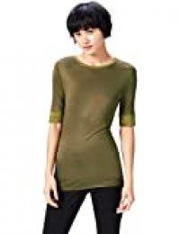 Marca Amazon - find. Camiseta Extralarga con Cuello Redondo Mujer
