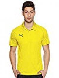 PUMA Liga Sideline Polo Polo, Hombre, 655608_07, Cyber Yellow Black, XXXL